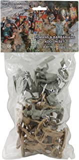 TSSD ANCIENT Roman & Barbarian Soldiers: 16 GRAY & TAN 1:30 Plastic Figures