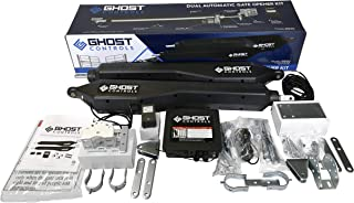 Ghost Controls Architectural Series Automatic Gate Opener Kit Without Battery Box for Swing Gates Up to 900 lbs. or 20 Feet (ft.) in Length (2. DD2U Dual Kit)