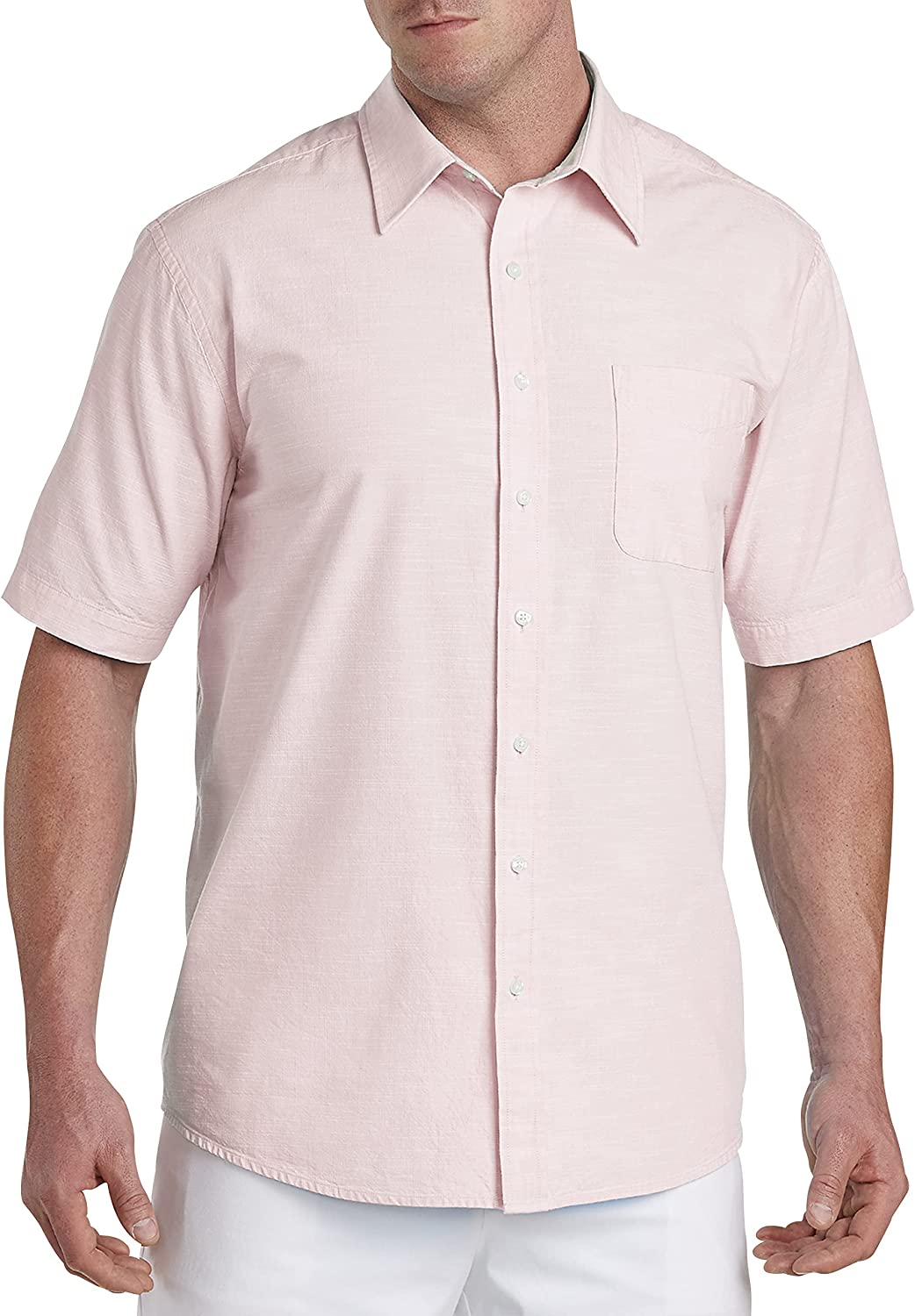 Oak Hill by DXL Big and Tall Washed Cotton Sport Shirt