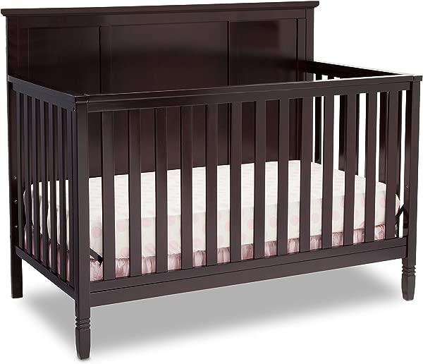 Delta Children Easton 4 In 1 Convertible Baby Crib Dark Chocolate