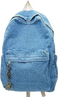 Yunzh حقيبة ظهر كاجوال من قماش الدينيم ، حقيبة ظهر كلاسيكية للسفر ، حقائب الكتب الجينز ، حقائب يومية غير رسمية