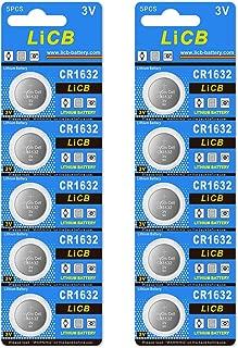 LiCB 10個入 CR1632 リチウム ボタン 電池 3V 1632 コイン形電池 水銀ゼロシリーズ