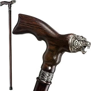 Fancy Walking Canes for Men - Celtic Bear - Stylish Men's Wooden Walking Sticks and Canes - Fashionable Wood Cane