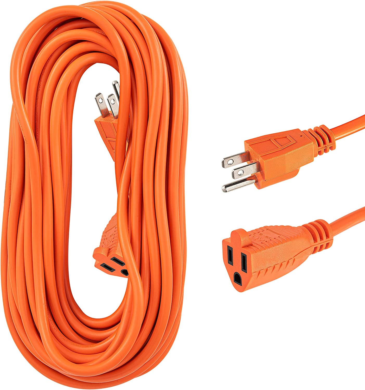 Ranking TOP15 Indoor Outdoor Extension Cord 50 Feet 40% OFF Cheap Sale 3 Outlet 1 Prong Orange