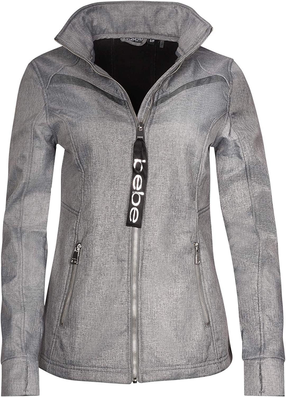 BEBE SPORT Ladies Fleece Lined Soft Shell Jacket with Double Layered Mesh