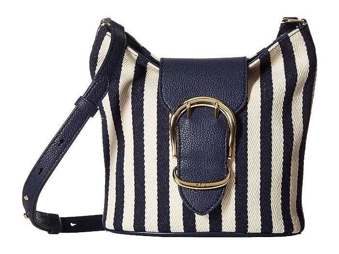 1093c27f3 LAUREN Ralph Lauren Cornwall Striped Canvas Bucket Crossbody Bag at ...