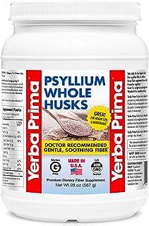 Yerba Prima Psyllium Whole Husks Colon Cleanser, All Natural, Dietary Fiber Supplement, 20 oz - (68 Servings)