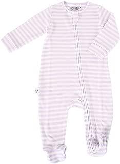 Woolino Baby Girls Footie Pajama Sleeper, 100% Australian Merino Wool, 6-9 Months, Lilac