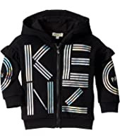 Kenzo Kids - Hooded and Ruffled Cardigan (Toddler/Little Kids)