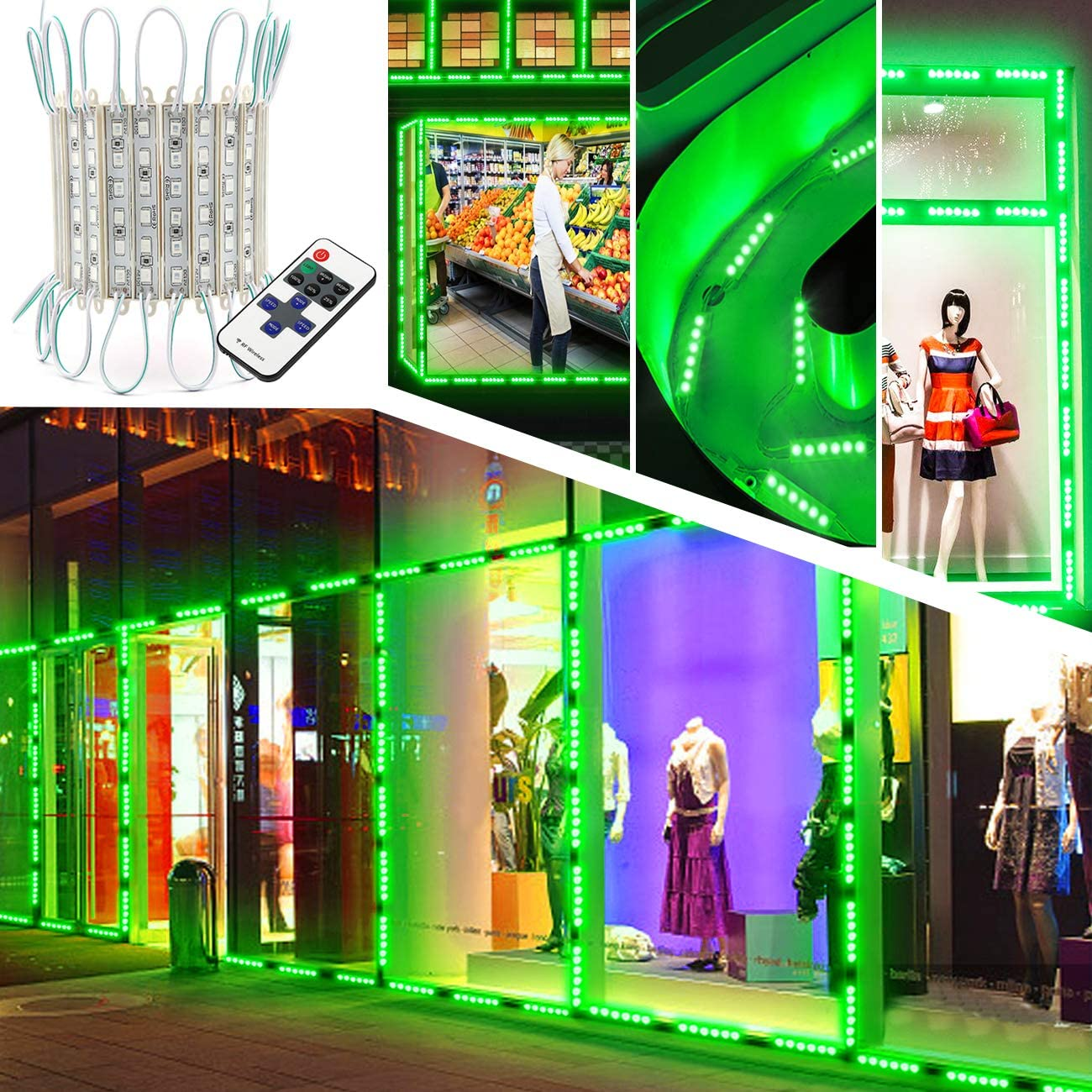 Upgraded LED Storefront Lights EAGWELL Max 51% OFF 40 Waterpro 80 Direct store Pieces Ft