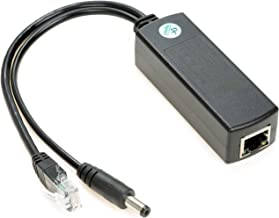 UCTRONICS Active PoE Splitter 12V - 2.1mm DC Barrel Jack for IP Camera, Arduino with Ethernet and Wireless Access Point - IEEE 802.3af/at Compliant