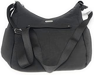 حقيبة HOBO متوسطة الحجم من بغاليني، نايلون وبوليستر، رمادي داكن