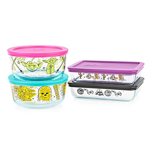 Pyrex 4-cup Decorated 8-pc Set, Star Wars Food Storage