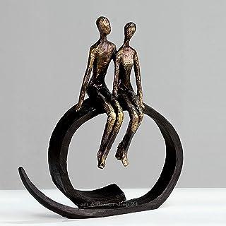 ARQITECTURE Statue Couple sur Cercle H 35 cm