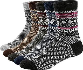 36fc545581b54 Ueither 5 paires de chaussettes de tennis automne/hiver en laine épaisse et  au style