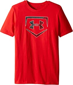 Under Armour Kids - Baseball Logo Short Sleeve Tee (Big Kids)