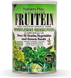 NaturesPlus Fruitein Revitalizing Green Foods High Protein Energy Shake - Tropical Fruit Flavor - 1.3 lbs, Vegetarian Powd...