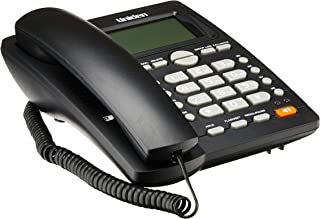 UNIDEN AS7412, Big LCD Display with Speakerphone Corded Phone, Black