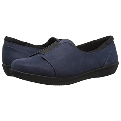 Clarks Ayla Band (Navy Synthetic Nubuck) Women