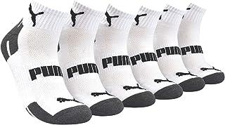 Puma Men's 6 Pack Quarter Crew Training Socks, Sock Size 10-13 P114385