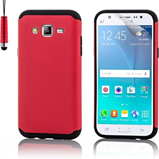 32nd Slim Armor Defender Cover Case for Samsung Galaxy J5 (2015 Edition, SM-J500) - Red