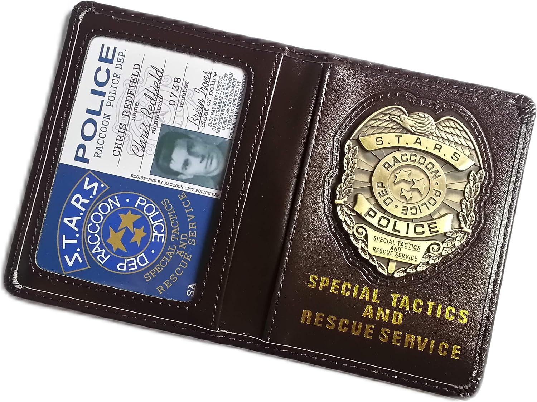 Resident Evil Biohazard S.T.A.R.S RPD Wallet Chris Redfield ID Holder | Leon Jill Wesker Cosplay