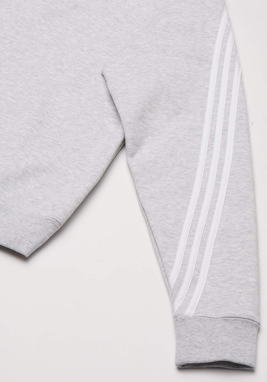 adidas 3stripe Wrap CR Sweat-Shirt Homme Light Grey Heather/White