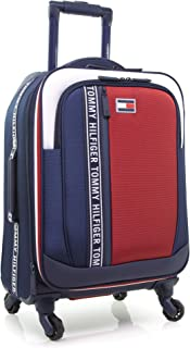 Tommy Hilfiger Sport Evolution Softside Expandable Spinner Luggage, Navy/Whte/Red, 20 Inch