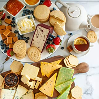 British Gourmet Premier Gift Basket - The Finest Collection Britain's best Cheese, Tea, Sweets, and crackers.