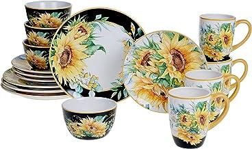 Certified International Sunflower Fields 16 piece Dinnerware Set, Service for 4, Multi Colored