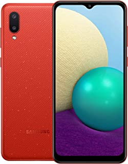 Samsung Galaxy A02 Dual Sim Mobile, 6.5 Inches, 32 GB, 3 GB RAM, 4G LTE - Red