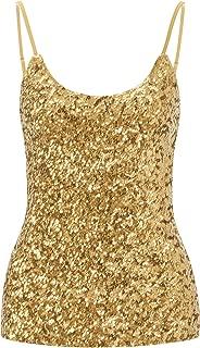 Howriis Women's Sequins Summer Short Camisole Tank Tops
