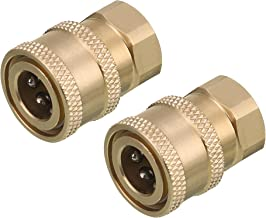 """RIDGE WASHER Pressure Washer Coupler, Quick Connect Fitting to Female NPT, 1/4"""", 2-Pack"""