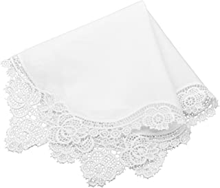 Milesky Premium Bridal Handkerchief Crochet Lace