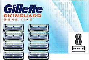 Gillette SkinGuard Sensitive Navulscheermesjes Aloë Vera, 8 Stuks