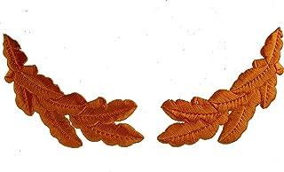Metallic Gold Scrambled Eggs Set Oak Leaf Sprig Officer Cap Iron on Patches