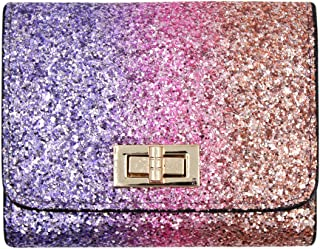 Shiny Purse Glitter Wallet Charming Money Clip Mini Evening Clutch Bag Rainbow Card Holder