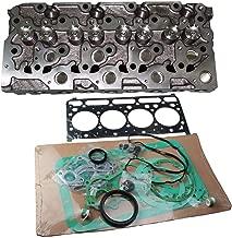 zt truck parts Complete Cylinder Head + Full Gasket Kit 6655153 for Kubota V2203 V2203T V2203E V2203B Engine Bobcat Loaders