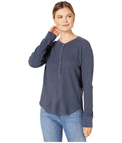 Pendleton Long Sleeve Thermal Henley (Indigo Heather) Women