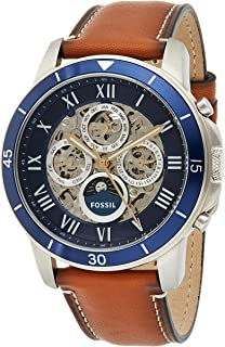 Fossil Grant Sports Automatic Brown Leather Watch ME3140