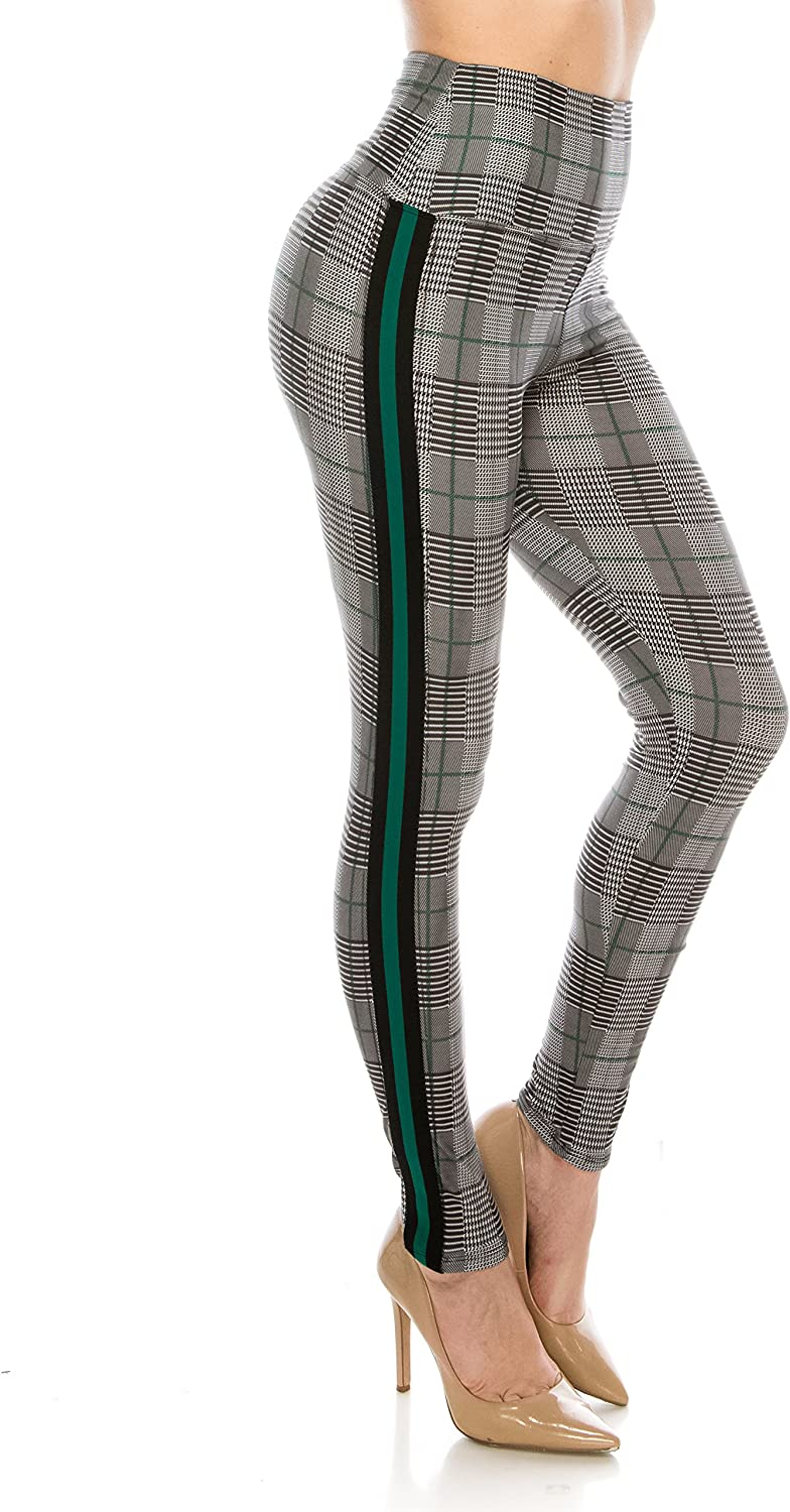 ALWAYS Legging Women Track Pants - High Waisted Premium Soft Stretch Buttery Racing Stripe