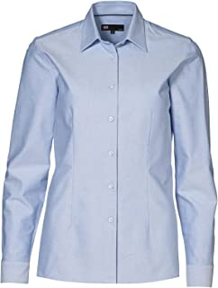 Ladies Fitted Slightly Shaped Long Sleeve Button Up Oxford Shirt