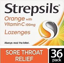 Strepsils Orange with Vitamin C 100mg 36 Lozenges