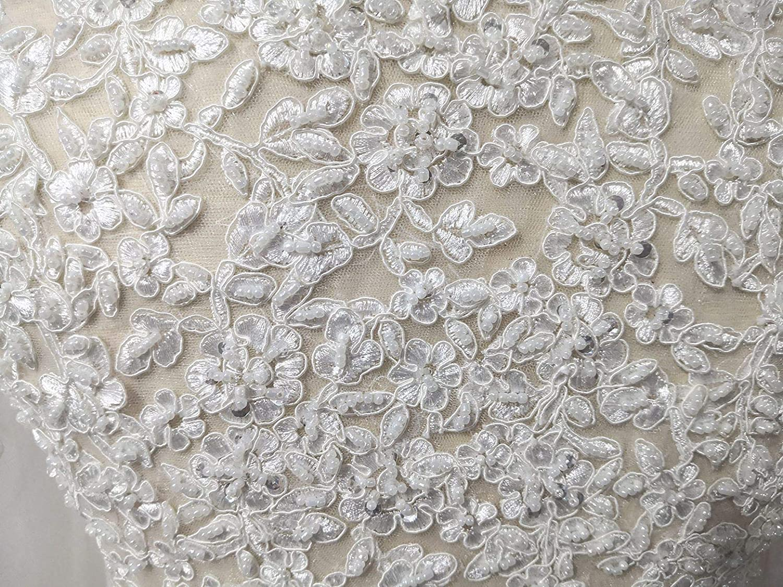 Snowskite Women's 3/4 Sleeves Lace Bridal Gown Wedding Jacket