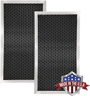 GE JX81A, WB02X9883, WB6X186 Microwave Recirculating Charcoal Filter (Made in USA) (2-Pack)