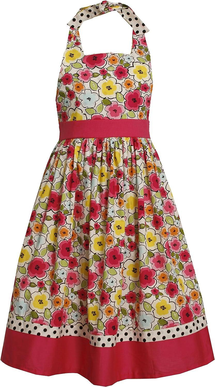 Bonnie Jean Big Girls' Flower Print Halter Dress