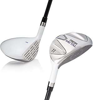 Founders Club Ladies Fresh Metal Womens Golf Clubs Fairway Woods with Ladies Flex Graphite Shaft and Head Cover