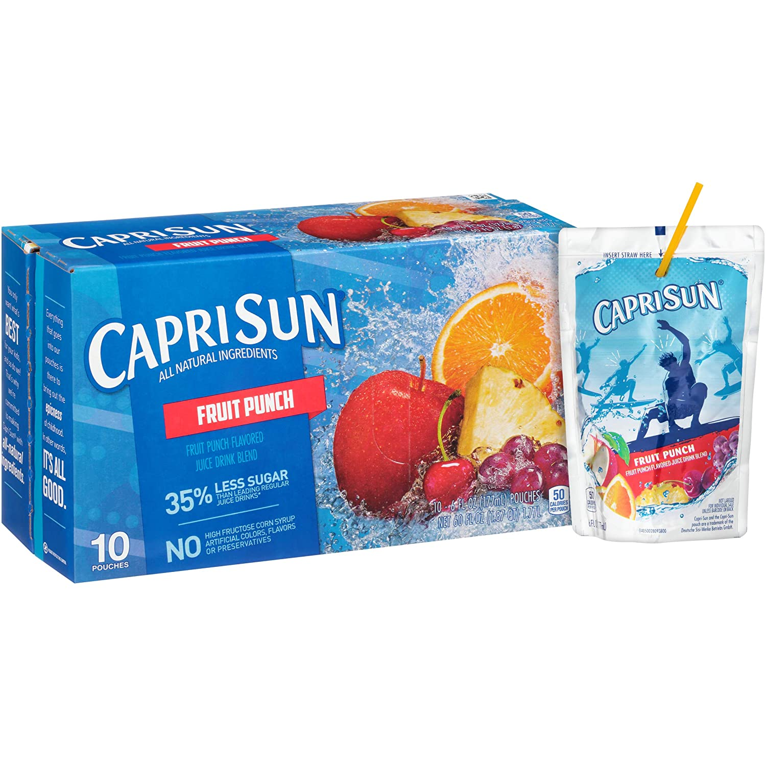 Capri Sun Fruit Punch Ready-to-Drink Fort Worth Mall Juice Boxes Pouches Max 77% OFF 4 40