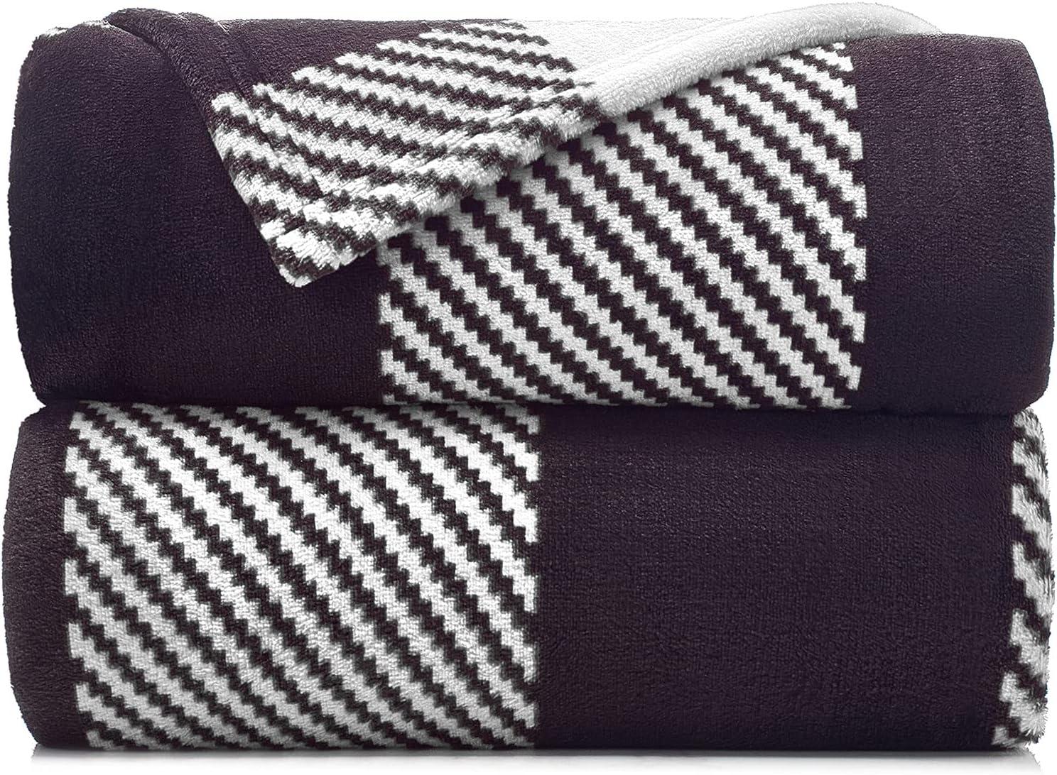 Malinad Plaid Sacramento Mall Blanket King Size - Black Direct stock discount 108x90 Printed White