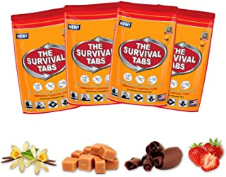 Survival Tabs 8-Day Food Supply 96 Tabs Emergency Food Ration Survival MREs Meals Ready-to-eat Bugout Emergency Food Replacement for Travel Camping Boating Biking Hunting Outdoor Activities Also Disaster Preparedness for Earthquake Flood Tsunami Gluten Free and Non-GMO 25 Years Shelf Life Long Term Food Storage - Mixed Flavor
